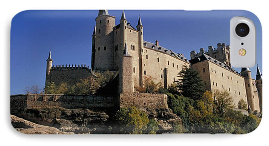 Royal IPhone 7 Case featuring the photograph Isabella's Castle In Segovia by Carl Purcell