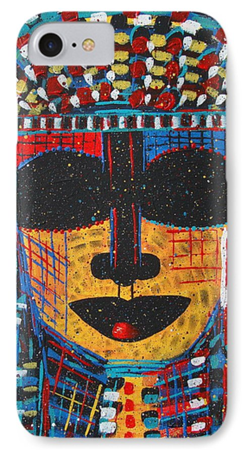 Abstract IPhone 7 Case featuring the painting Isatoria by Natalie Holland