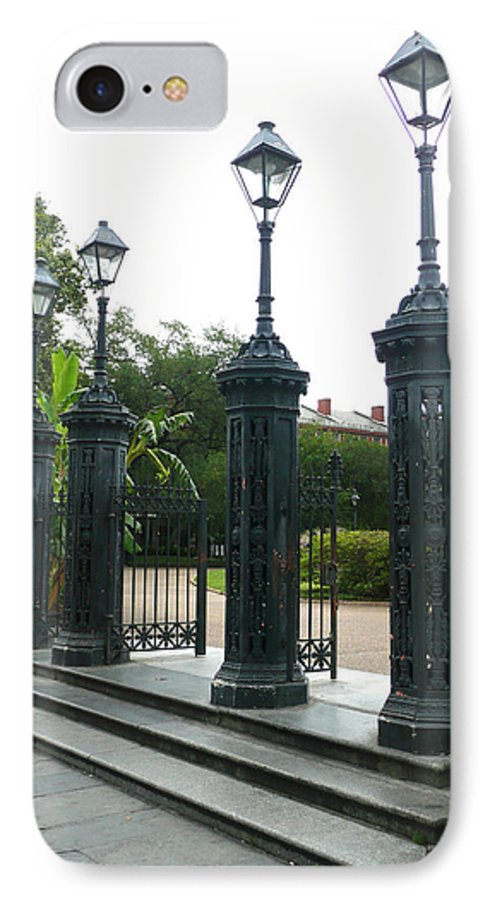 Jackson Square IPhone 7 Case featuring the photograph Jackson Square by Kathy Schumann