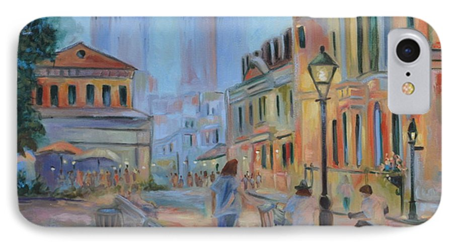 New Orleans IPhone 7 Case featuring the painting Jackson Square Musicians by Ginger Concepcion