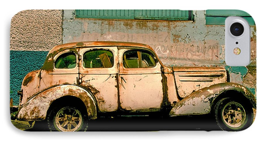 Skip IPhone 7 Case featuring the photograph Jalopy by Skip Hunt