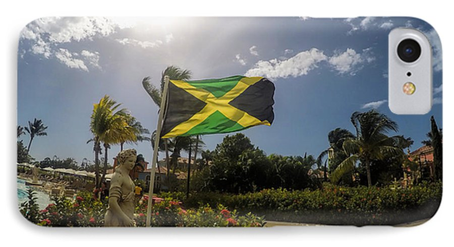Jamaica IPhone 7 Case featuring the digital art Jamaica Day by Nicholas Legault