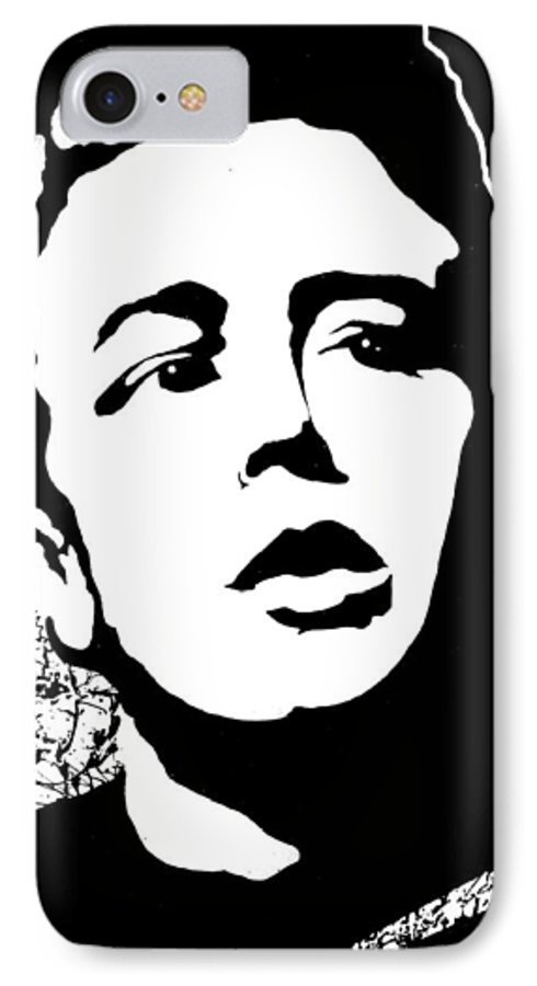 James Dean IPhone 7 Case featuring the painting James Dean by Curtiss Shaffer