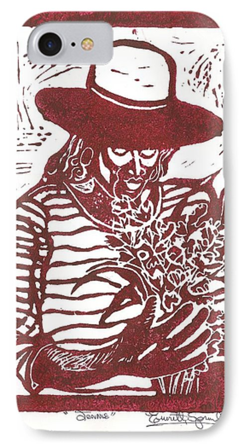 Jannie IPhone 7 Case featuring the painting Jannie by Everett Spruill