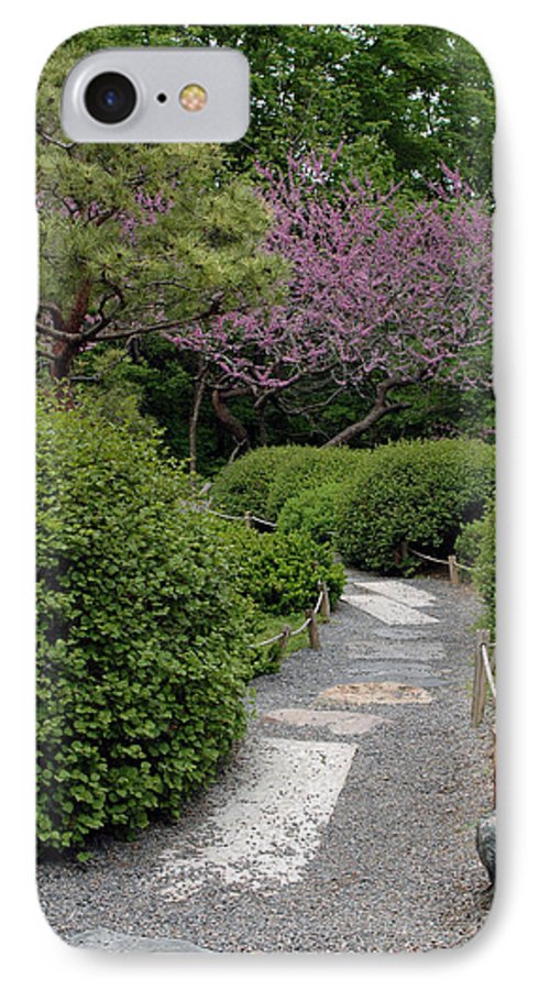 Japanese Garden IPhone 7 Case featuring the photograph Japanese Garden I by Kathy Schumann