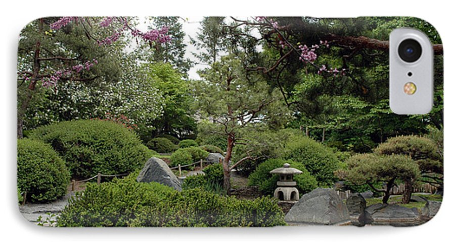 Japanese Garden IPhone 7 Case featuring the photograph Japanese Garden IIi by Kathy Schumann