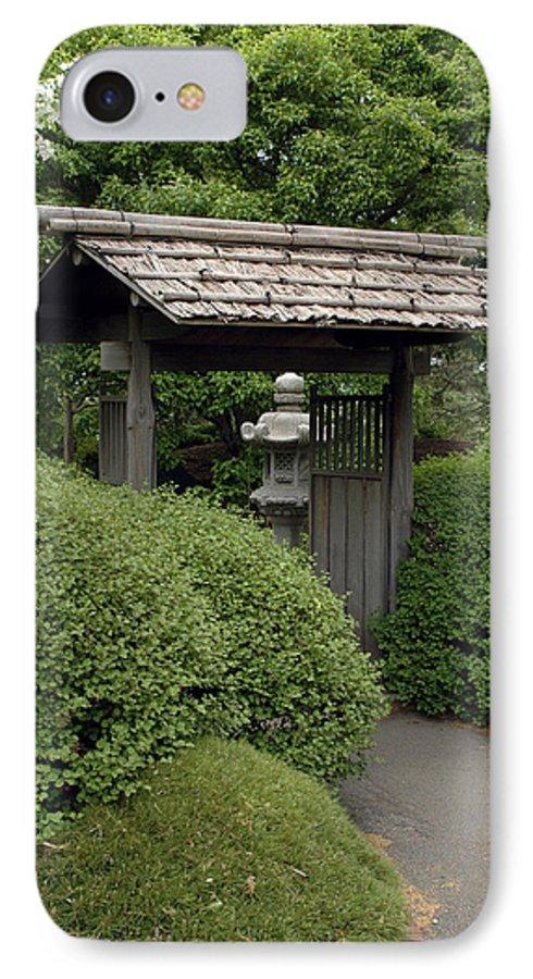 Japanese Garden IPhone 7 Case featuring the photograph Japanese Garden by Kathy Schumann