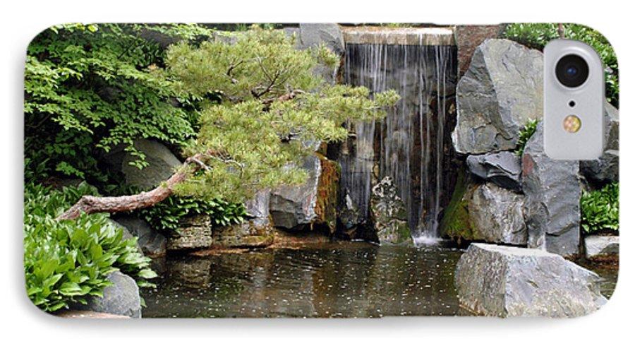 Japanese Garden IPhone 7 Case featuring the photograph Japanese Garden V by Kathy Schumann