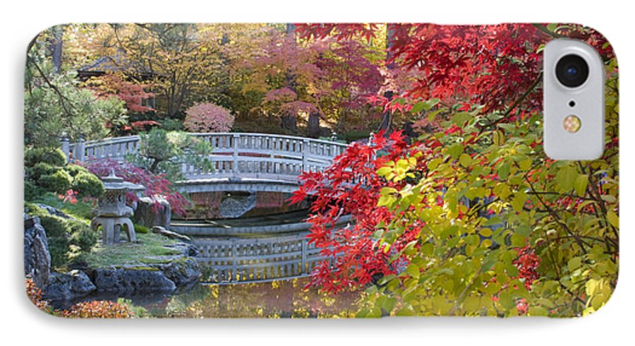 Gardens IPhone 7 Case featuring the photograph Japanese Gardens by Idaho Scenic Images Linda Lantzy
