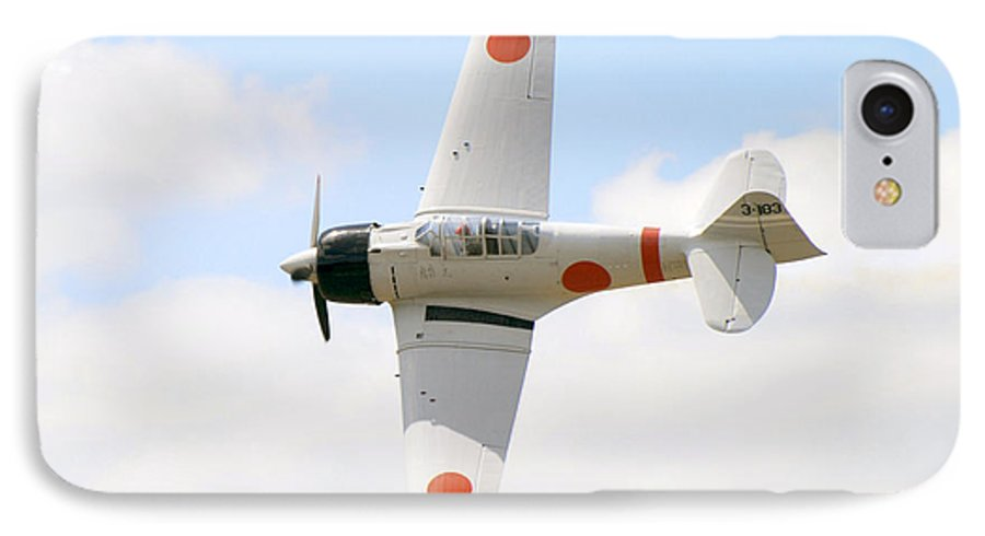 Airplanes IPhone 7 Case featuring the photograph Japanese Zero by Larry Keahey