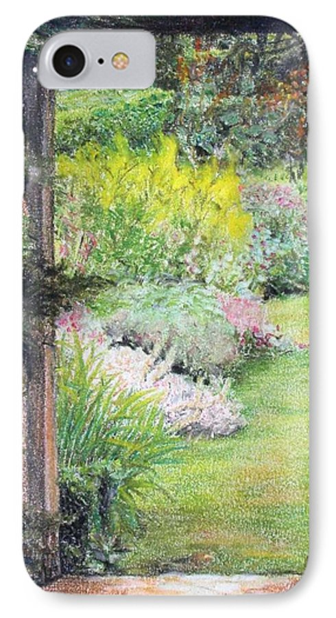 Landscape IPhone 7 Case featuring the drawing Jardin by Muriel Dolemieux