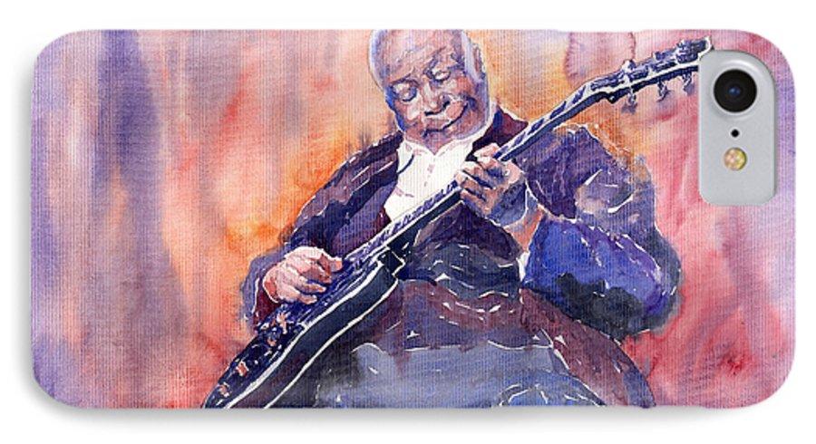 Jazz IPhone 7 Case featuring the painting Jazz B.b. King 03 by Yuriy Shevchuk