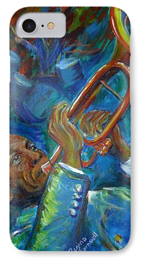 Jazz IPhone 7 Case featuring the painting Jazz Man by Regina Walsh
