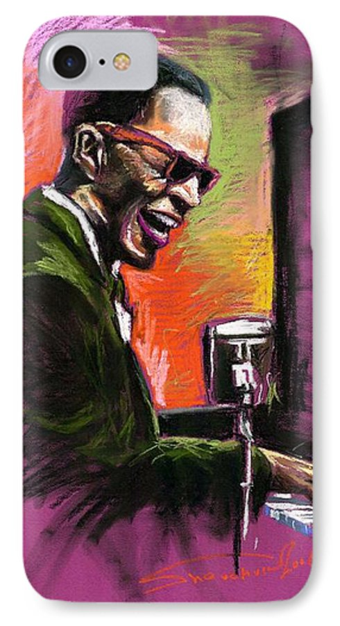 IPhone 7 Case featuring the painting Jazz. Ray Charles.2. by Yuriy Shevchuk