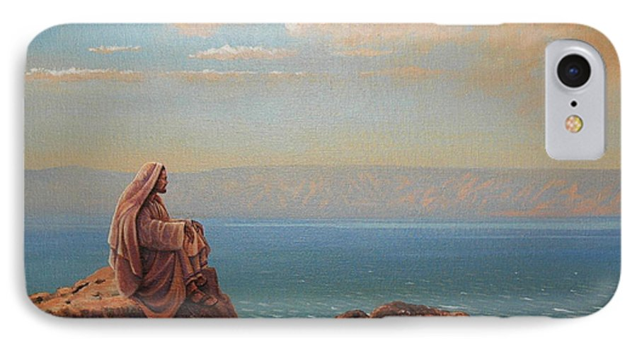 Jesus IPhone 7 Case featuring the painting Jesus By The Sea by Michael Nowak