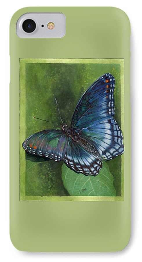 Insects IPhone 7 Case featuring the mixed media Jewel Tones by Barbara Keith