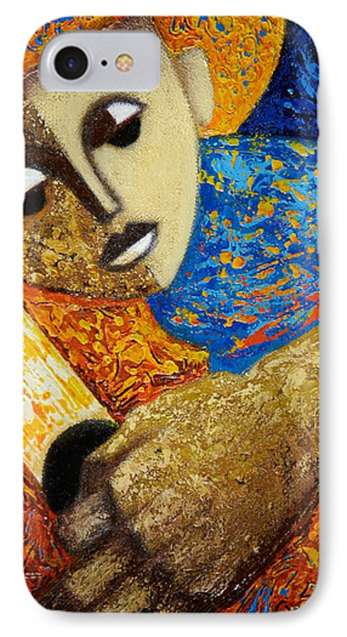 Color IPhone 7 Case featuring the painting Jibaro Y Sol by Oscar Ortiz