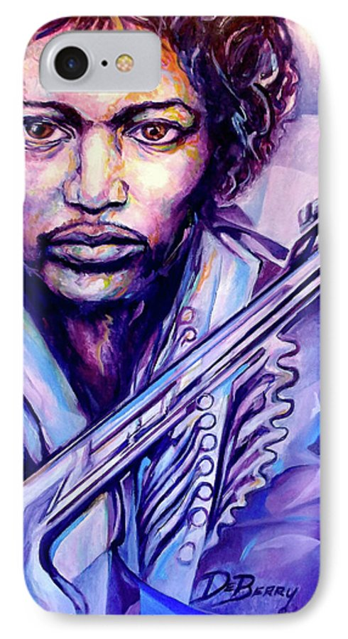 IPhone 7 Case featuring the painting Jimi by Lloyd DeBerry
