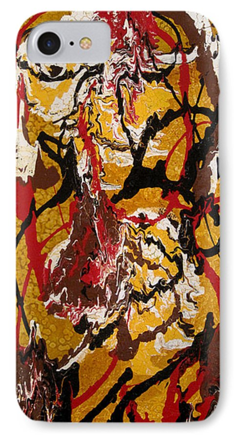 Abstract Art IPhone 7 Case featuring the painting Joe Sweet by Jill English