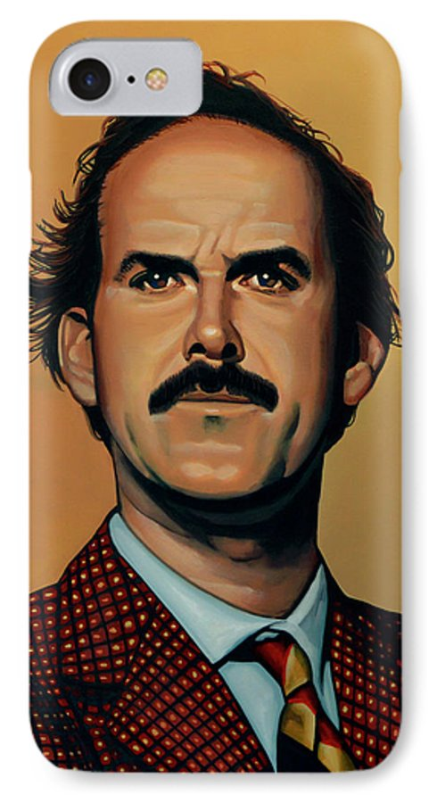 John Cleese IPhone 7 Case featuring the painting John Cleese by Paul Meijering