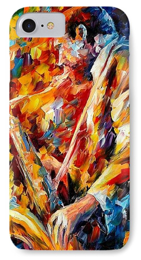 Music IPhone 7 Case featuring the painting John Coltrane by Leonid Afremov