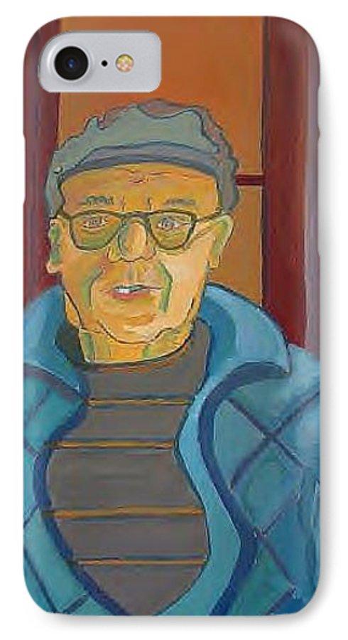 Portrait IPhone 7 Case featuring the painting John Paris by Debra Bretton Robinson