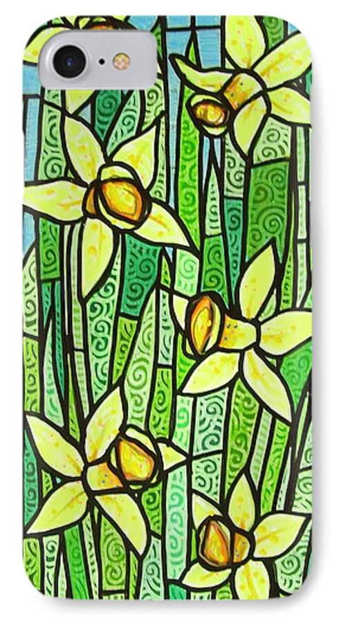 Jonquils IPhone 7 Case featuring the painting Jonquil Glory by Jim Harris