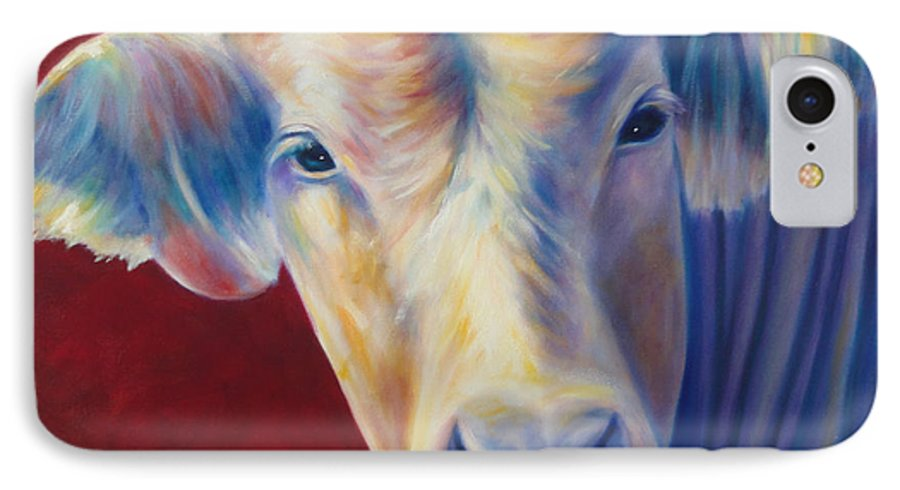 Bull IPhone 7 Case featuring the painting Jorge by Shannon Grissom