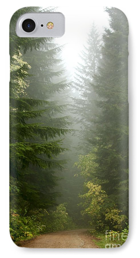 Forest IPhone 7 Case featuring the photograph Journey Through The Fog by Idaho Scenic Images Linda Lantzy