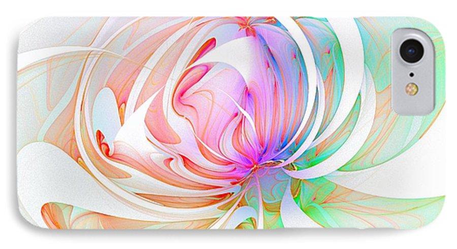 Digital Art IPhone 7 Case featuring the digital art Joy by Amanda Moore