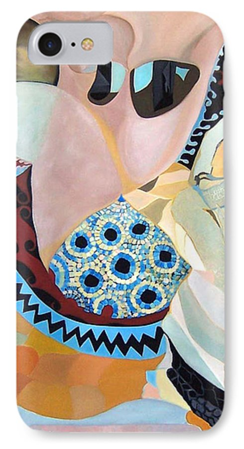 Figyrative IPhone 7 Case featuring the painting Jurney by Antoaneta Melnikova- Hillman