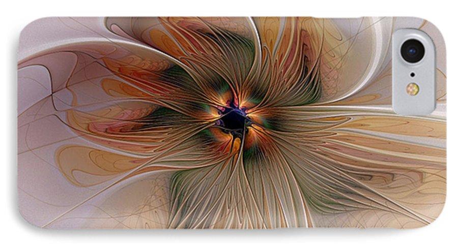 Digital Art IPhone 7 Case featuring the digital art Just Peachy by Amanda Moore