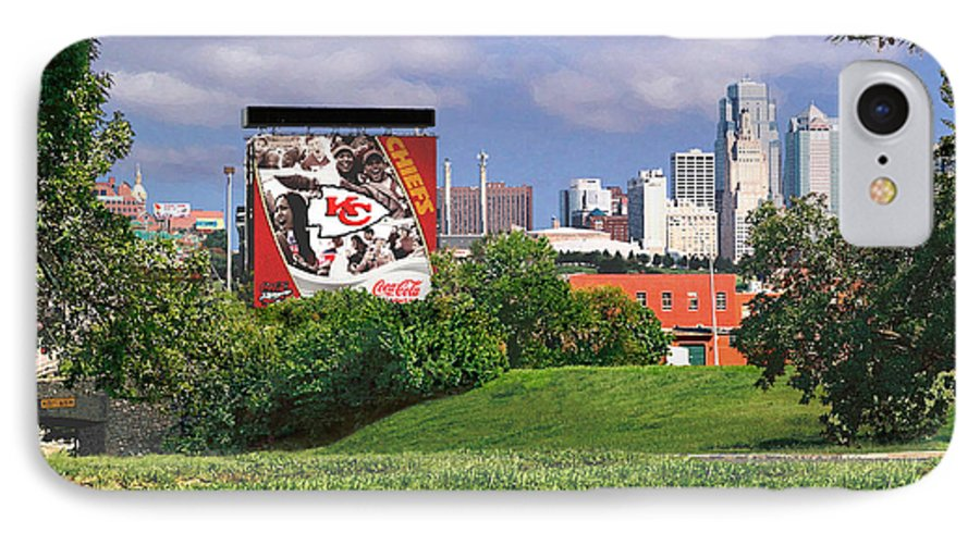 Landscape IPhone 7 Case featuring the photograph Kansas City Sky Line by Steve Karol