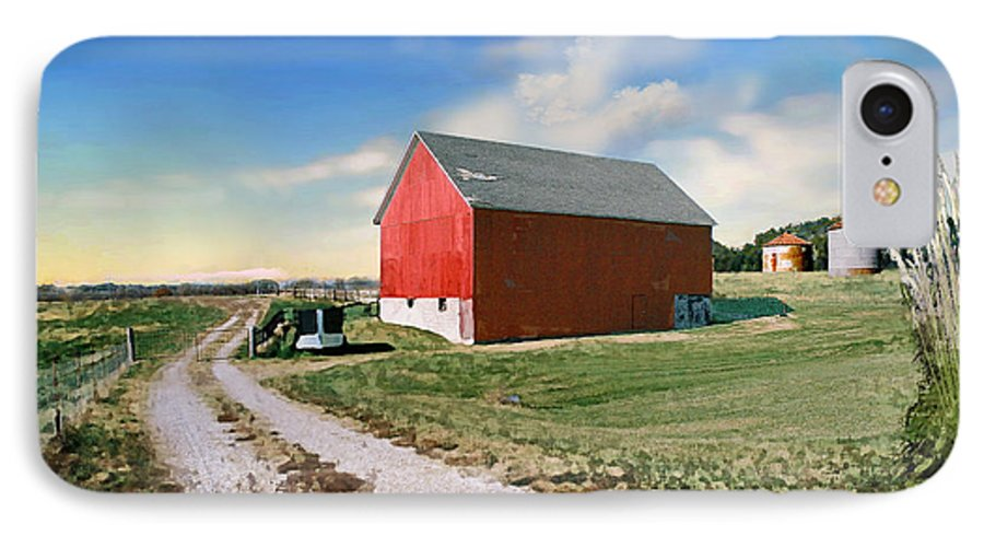 Barn IPhone 7 Case featuring the photograph Kansas Landscape II by Steve Karol