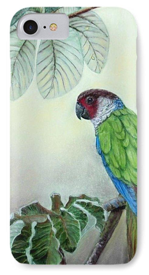 Wildlife IPhone 7 Case featuring the painting Kasanga Bajo El Guarumo by Ceci Watson