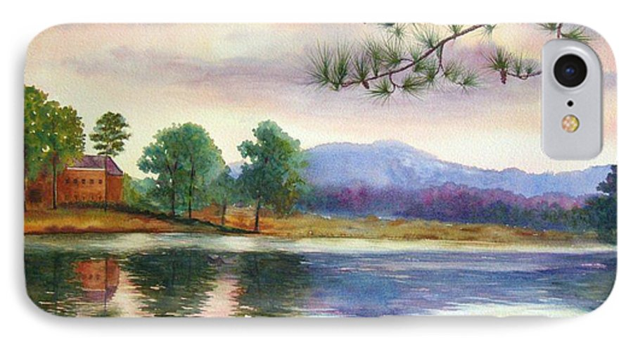 Marietta IPhone 7 Case featuring the painting Kennesaw Mt. by Ann Cockerill