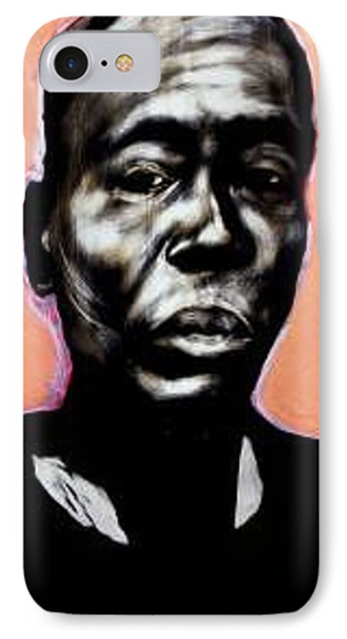 Portrait IPhone 7 Case featuring the mixed media Kewam by Chester Elmore