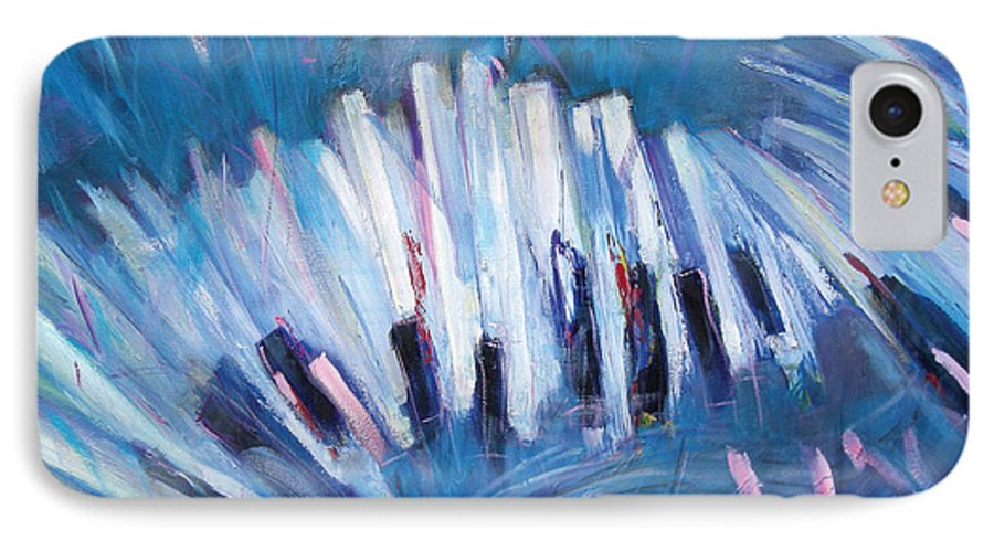 Piano IPhone 7 Case featuring the painting Keys by Jude Lobe