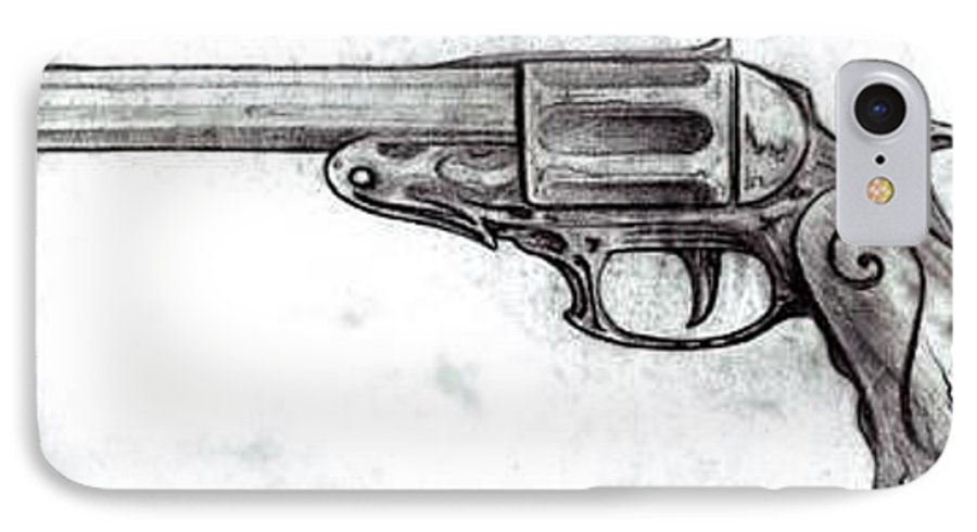 Gun IPhone 7 Case featuring the drawing Killer Instinct by Will Le Beouf