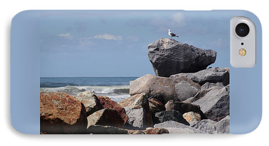 Beach IPhone 7 Case featuring the photograph King Of The Rocks by Margie Wildblood