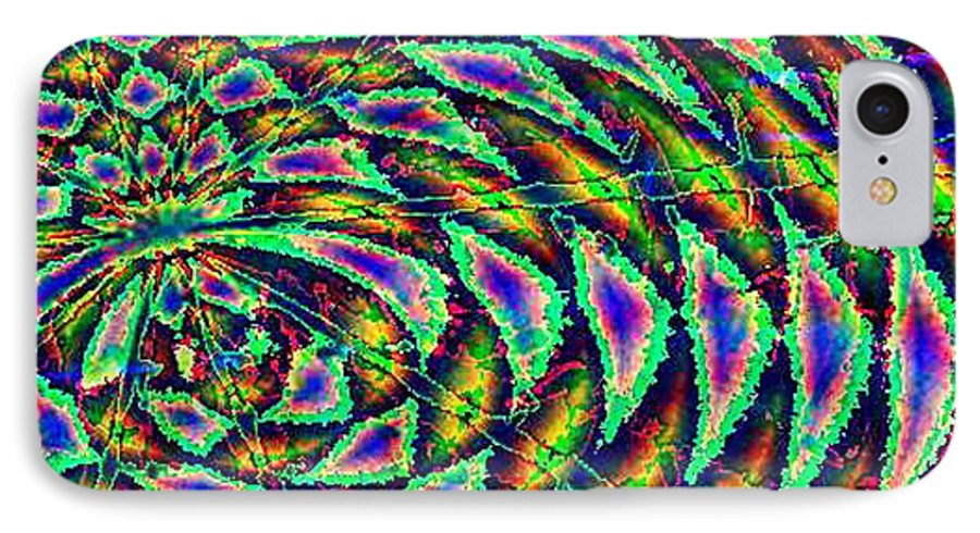 Computer Art IPhone 7 Case featuring the digital art Kiwi by Dave Martsolf