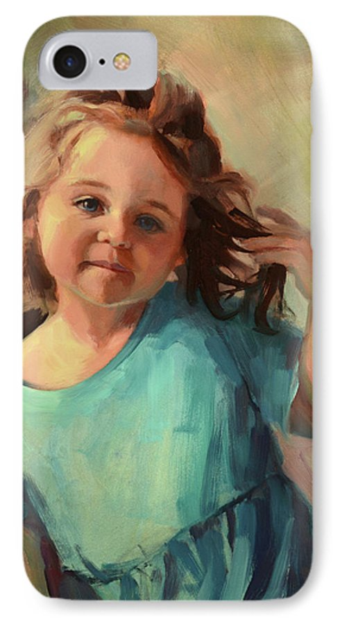 Child IPhone 7 Case featuring the painting Kymberlynn by Steve Henderson