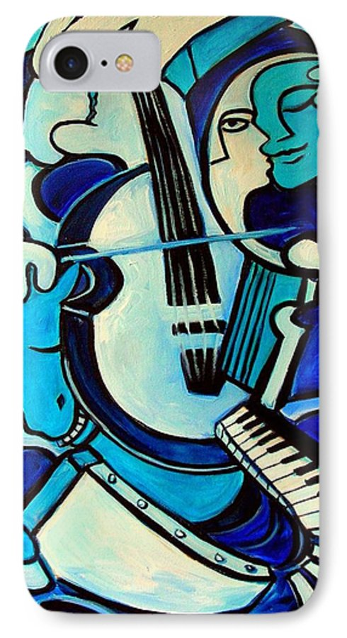 Abstract IPhone 7 Case featuring the painting L Amour Ou Quoi by Valerie Vescovi
