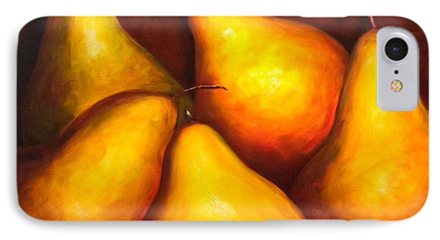 Still Life Yellow IPhone 7 Case featuring the painting La Familia by Shannon Grissom