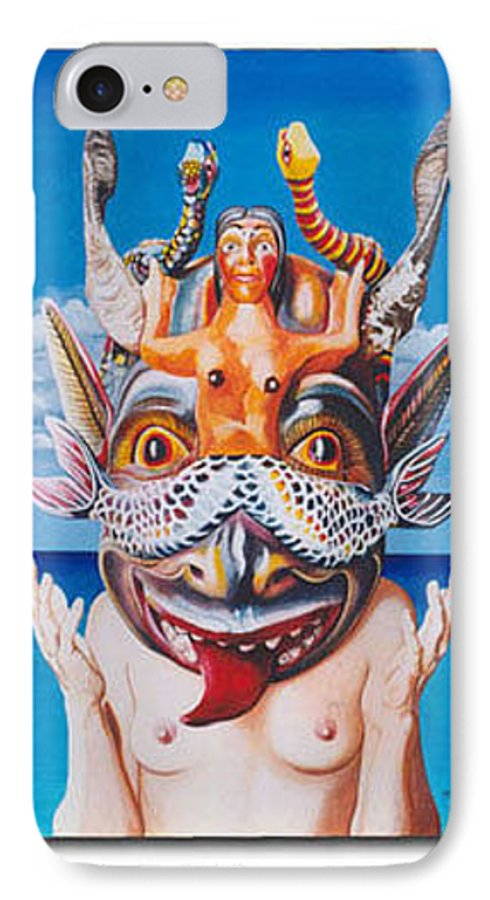 Hyperrealism IPhone 7 Case featuring the painting La Sirena by Michael Earney