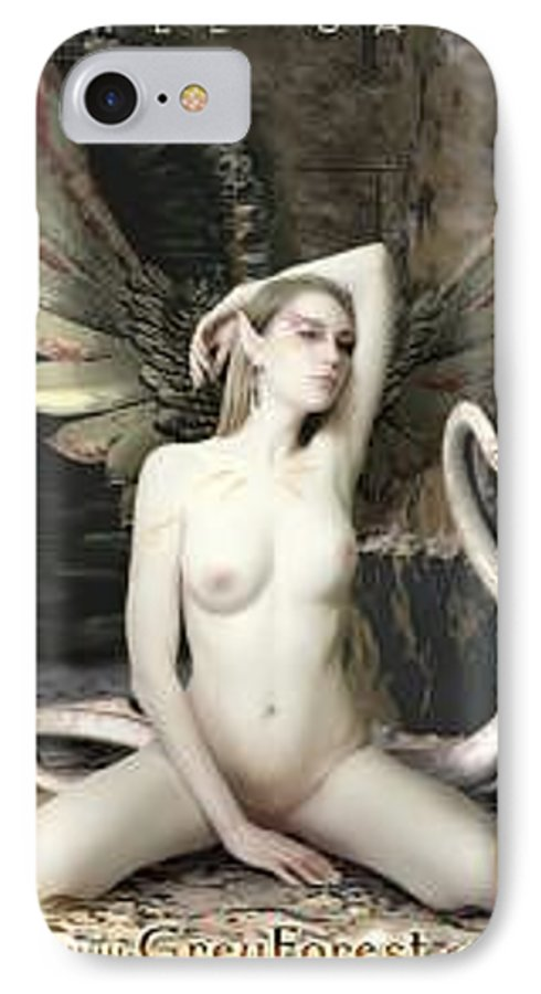 Fairy IPhone 7 Case featuring the painting Labyrinth by Michel Savage