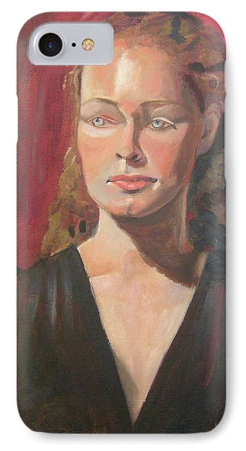 Portrait IPhone 7 Case featuring the painting Lady Ann by Lilibeth Andre