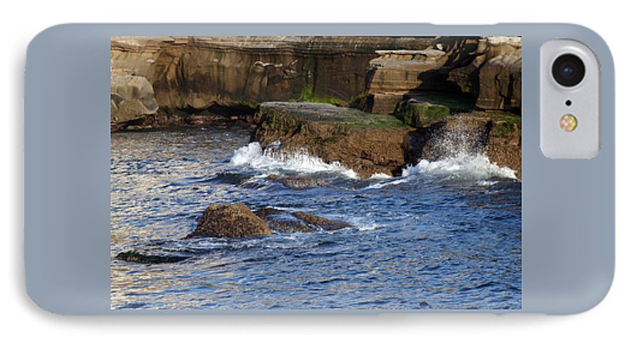 Ocean IPhone 7 Case featuring the photograph Lajolla Rocks by Margie Wildblood