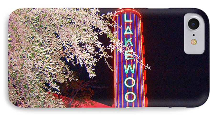 Theater IPhone 7 Case featuring the photograph Lakewood Theater by Debbi Granruth