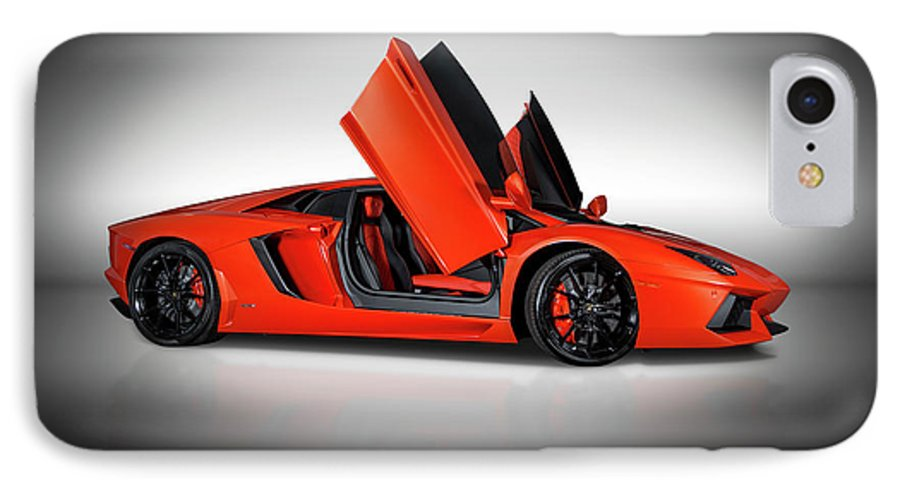 Lamborghini Aventador Doors Up Iphone 7 Case For Sale By Bill Brock